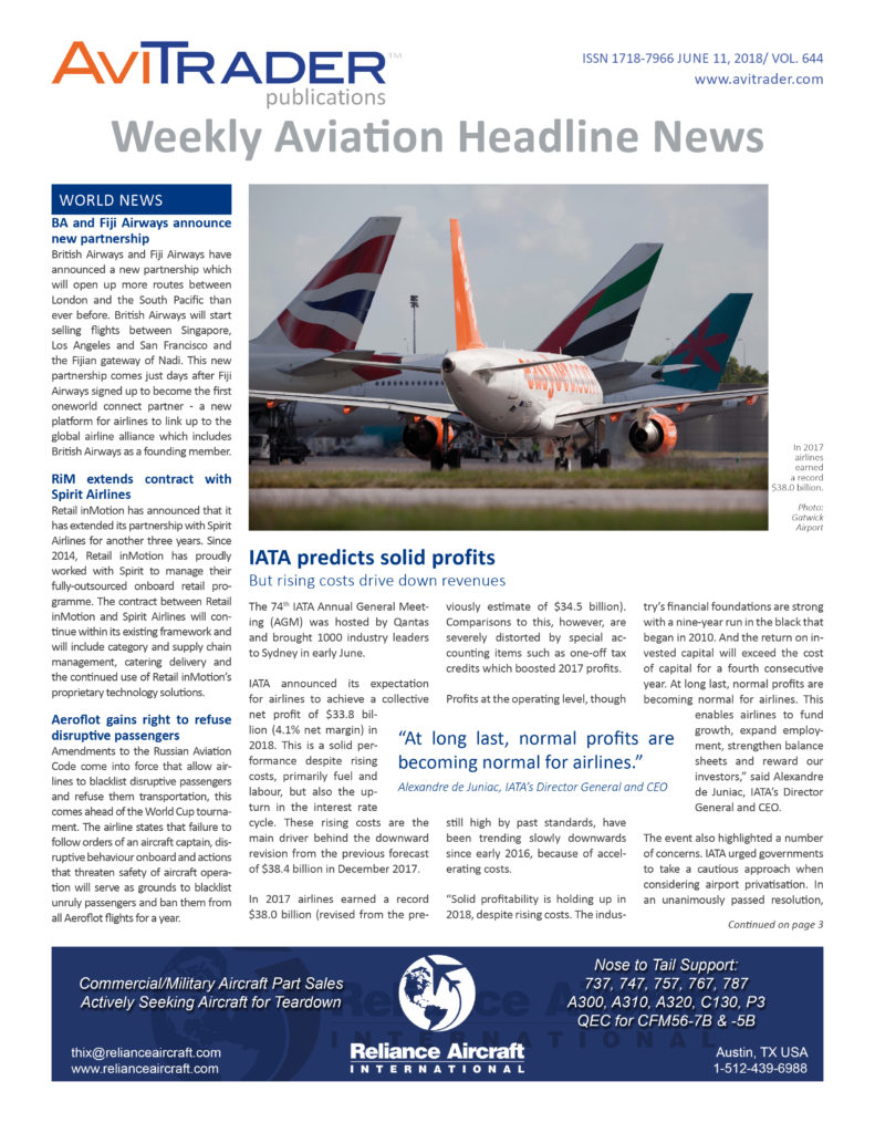 AviTrader_Weekly_Headline_News_Cover_2018-06-11