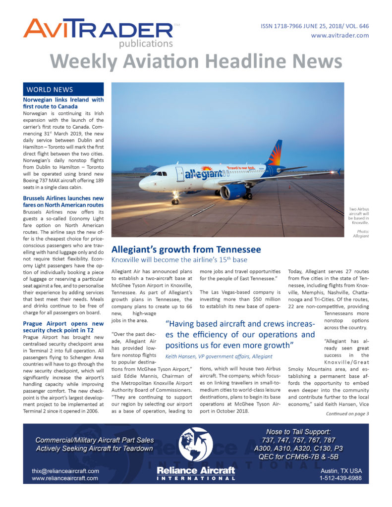 AviTrader_Weekly_Headline_News_Cover_2018-06-25