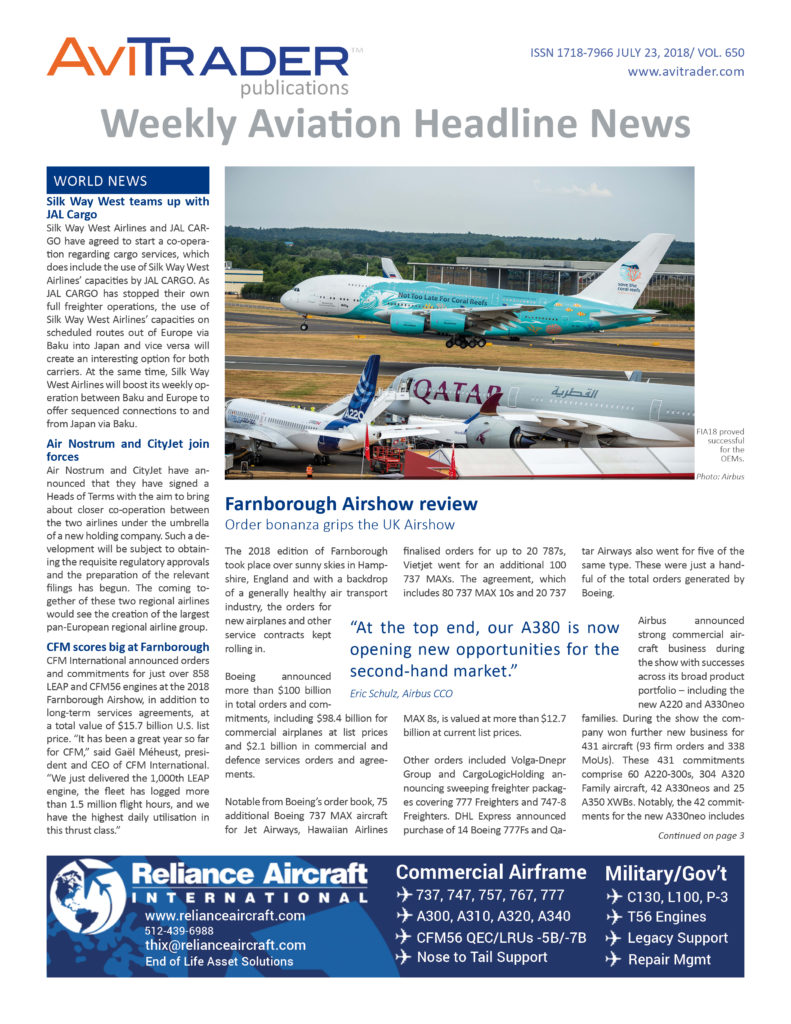 AviTrader_Weekly_Headline_News_Cover_2018-07-23