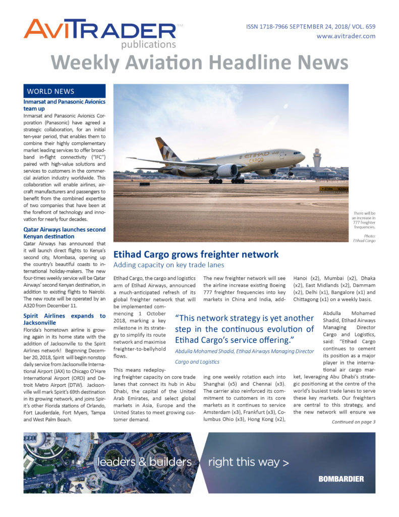 Weekly Aviation Headline News on