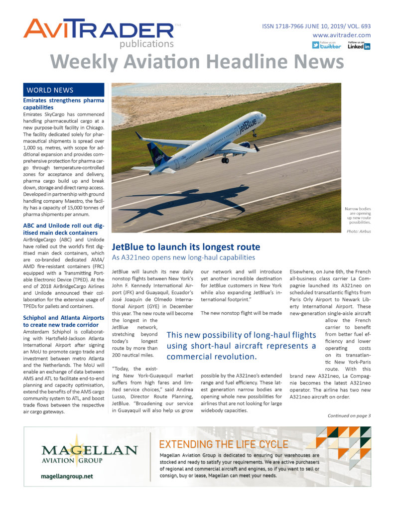 Weekly Aviation Headline News