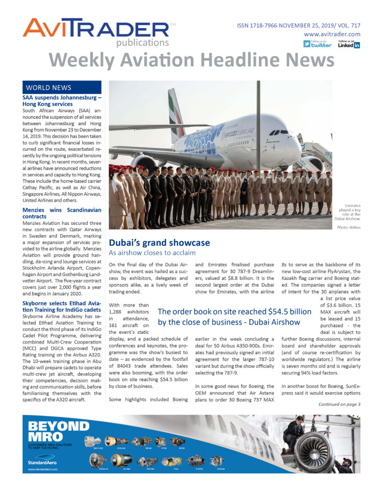 AviTrader_Weekly_Headline_News_Cover_2019-11-25