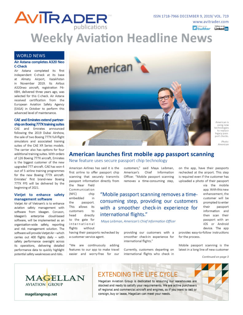 AviTrader_Weekly_Headline_News_Cover_2019-12-09