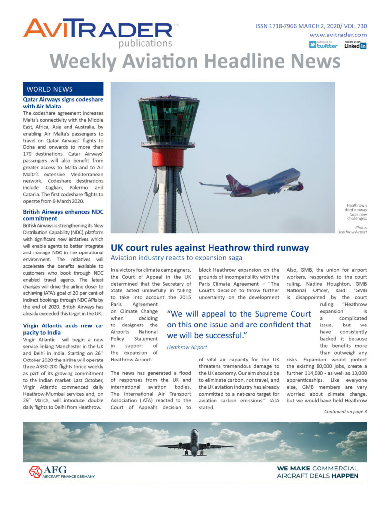 AviTrader_Weekly_Headline_News_Cover_2020-03-02